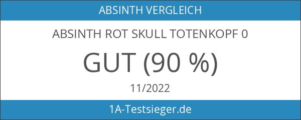 Absinth Rot Skull Totenkopf 0