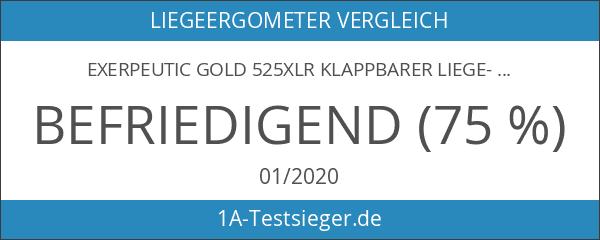Exerpeutic GOLD 525XLR Klappbarer Liege-Heimtrainer